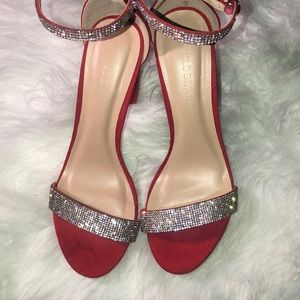 Red & Silver Embellished Heels